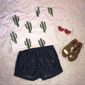 Crown & Ivy Denim Shorts